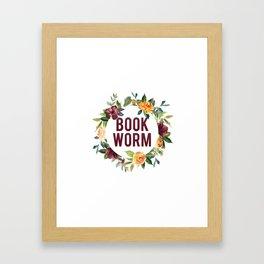 Autumn Bookworm Framed Art Print