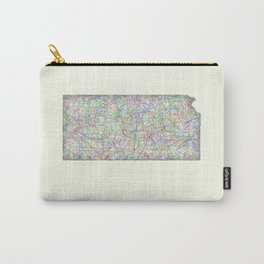 Kansas map Carry-All Pouch