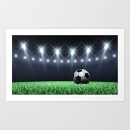Football stadium Art Print
