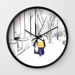 City Streets 3 Wall Clock