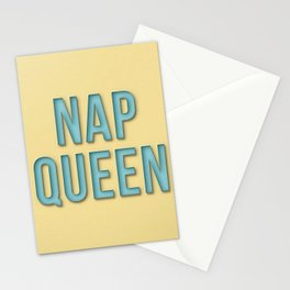 Funny nap queen text Stationery Cards