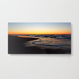 Feel the Love Sunset on the Sea Metal Print