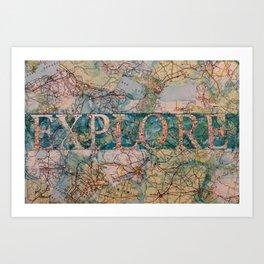 Explore by Heather Saulsbury Art Print