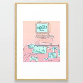 PS1 Framed Art Print