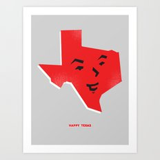 Happy Texas Art Print