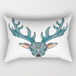 Deer Park- MI_Blue Rectangular Pillow