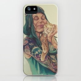 Meli and Figaro iPhone Case