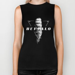 BUFFALO FACTORY Sepia Feather Biker Tank