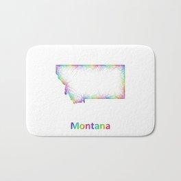 Rainbow Montana map Bath Mat