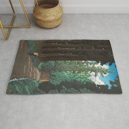 Hasui Kawase, Road To Nikko - Vintage Japanese Woodblock Print Art Rug