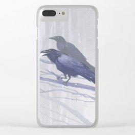 Huginn and Muninn Clear iPhone Case