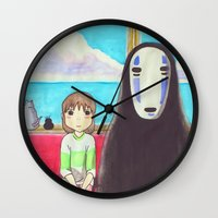 spirited away Wall Clocks featuring Spirited Away by Janice Wong