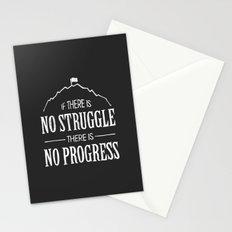 No Struggle, No Progress Stationery Cards