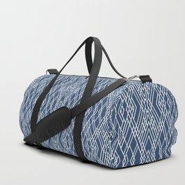 Art Deco Navy Duffle Bag