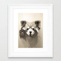red panda Framed Art Prints featuring Red Panda by Rafapasta
