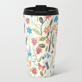 Origami insects and paper cut flowers Travel Mug