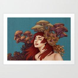 Mushroom Lady Art Print
