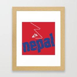 Nepal Aid Framed Art Print