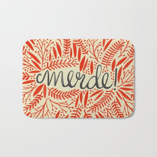 Pardon My French – Red on Cream Bath Mat
