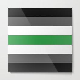 Agender Flag Metal Print