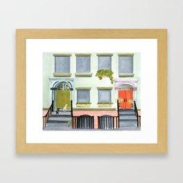 Porch Cats Framed Art Print