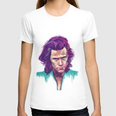 harry in colors White Womens Fitted Tee MEDIUM