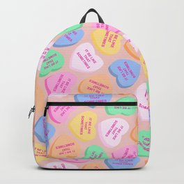 It Be Like That Sometimes - Candy Hearts Valentine's Day Backpack