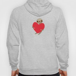 Funny sloth with a red heart Hoody