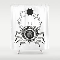cancer Shower Curtains featuring Cancer by LydiaSchüttengruber