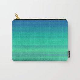 Blue Green Gradient Stripes Carry-All Pouch