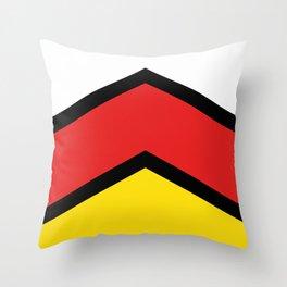 Chevron South Ossetia Flag Colors Throw Pillow