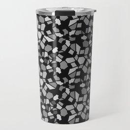 ROUTES gradient black grey abstract pattern Travel Mug