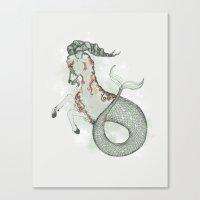 capricorn Canvas Prints featuring Capricorn by Vibeke Koehler