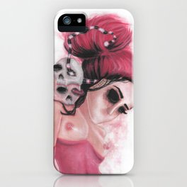 Red Coloured Dreams iPhone Case