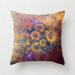 Burlap Pastel Floral Throw Pillow