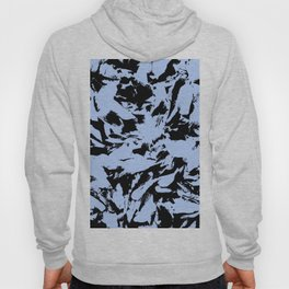 Blue Black Pattern Military Camouflage Hoody