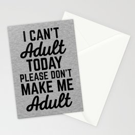 Can't Adult Today (Heather) Funny Quote Stationery Cards