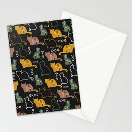 Cat decor Stationery Cards