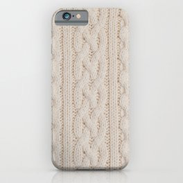 knitted texture iPhone Case