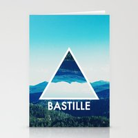 bastille Stationery Cards featuring BASTILLE by Hands in the Sky