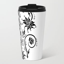 Abstract floral ornament Travel Mug