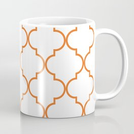 Quatrefoil - orange Coffee Mug