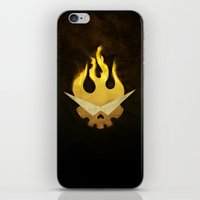 gurren lagann iPhone & iPod Skins featuring Gurren Lagann Movie Poster by 5eth