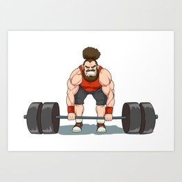 Weightlifting | Fitness Workout Art Print