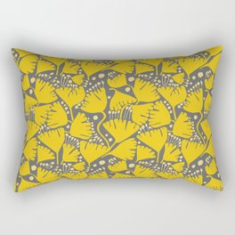 Yellow Ginkgo Biloba Leaves Rectangular Pillow