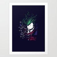 the joker Art Prints featuring Joker by Steven Toang