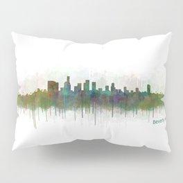 Beverly Hills City in LA City Skyline HQ v3 Pillow Sham