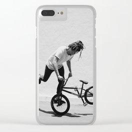 Flatland BMX Rider Clear iPhone Case