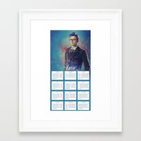 calendars Framed Art Prints featuring One Year With The Doctor! by KanaHyde