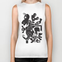 tote bag Biker Tanks featuring Tote Um by Ray Moore